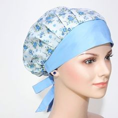 Lace Knitting Patterns, Easy Sewing Patterns, Diy Sewing Projects, Sewing Projects For Beginners, Scrub Hat Patterns, Head Scarf Styles, Nurse Hat, Apron Designs, Sewing Accessories