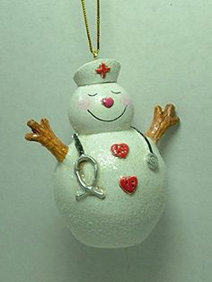 Snowman Nurse Stethoscope Hospital ER Doctor Medicine Christmas Tree Ornament *** Check this awesome product by going to the link at the image.