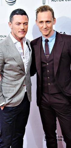 Luke Evans and Tom Hiddleston attend High-Rise Premiere - 2016 Tribeca Film Festival at SVA Theatre on April 20, 2016 in New York City. Full size image: http://ww1.sinaimg.cn/large/6e14d388gw1f34niwmw24j22dv3347wi.jpg Source: Torrilla, Weibo