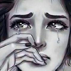 Sad Status for Whatsapp Sad Quotes. We also have a Collection of sad sataus so checout these sad staus. Best Sad Whatsapp Status In English for Girlfriend or Sad Drawings, Art Drawings Sketches, Crying Girl Drawing, Crying Girl Sketch, Sad Paintings, Sad Pictures, Sad Art, Painting Of Girl, Digital Art Girl