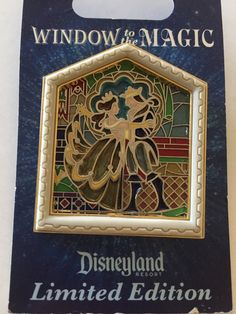 Beauty and the Beast Stained Glass LE 1000 Windows to the Magic Pin