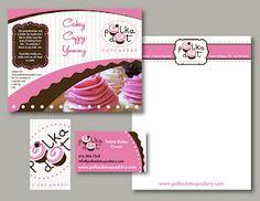 marketing kit for PolkaDot Cupcakery  www.alexmclark.com