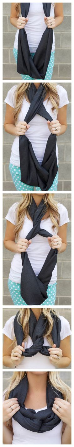 Just another way to tie that favorite infinity scarf!!