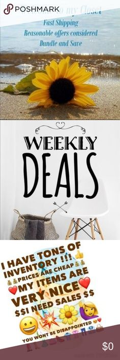 Welcome to My Closet - Bundle & Save Bundle & Save - Weekly Sales - Reasonable Prices - Same or Next Day Shipping Other