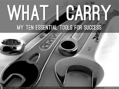what-i-carry-10-tools-for-success by Jonathon Colman @jcolman via Slideshare