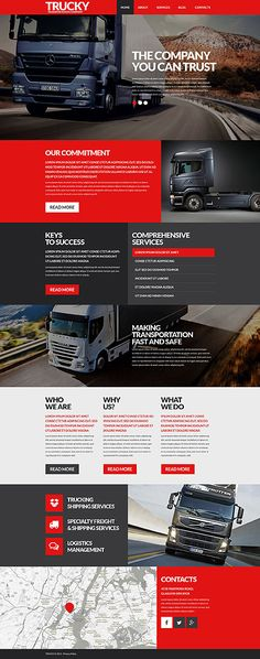 Road Transportation Company #WordPress #template. #themes #business #responsive