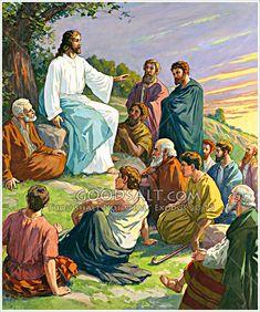 Luke 17 Bible Pictures: Jesus teaching the twelve disciples Bible Pictures, Jesus Pictures, Jesus History, Luke 17, Jesus Teachings, Spirit Of Truth, Catholic Bible, Holy Week, God Loves You
