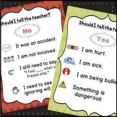 Tattling Posters! Get back on task with these tattling reminders. These tattling posters encourage students to TRY to solve their own problems. Both posters can be printed on standard 8.5 by 11 paper.