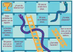 Juego Serpientes y escaleras con ser y estar Practica los verbos ser y estar con este juego.  Niveles A1 y B1