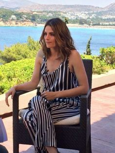 Stana Katic in Greece Monday