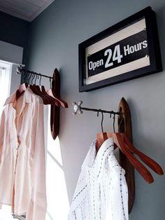 3 diy hanging, diy clothes hanging, rack for clothes, clothes rod Diy Clothes Hanging, Diy Clothes Rack Cheap, Clothes Hanger Rack, Clothes Drying Racks, Diy Clothes Rod, Hangers, Clothes Hooks, Clothing Racks, Laundry Room Storage