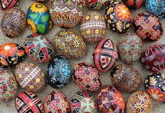 A pysanka (Ukrainian: писанка, plural: pysanky) is a Ukrainian Easter egg, decorated using a wax-resist (batik) method.
