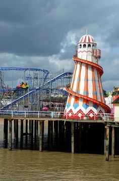 Amusements on the Pier in Clacton-On-Sea Essex England