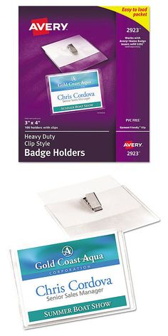 eb5f953dcba ID and Badge Holders 163582  Wholesale Clear Plastic Horizontal Name Tag Id  Card Holder Badge With Hook Clip -  BUY IT NOW ONLY   50 on eBay!
