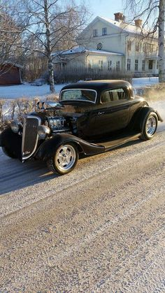 Street rod in any type of weather
