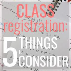 Class registration is here once again! This can either be really stressful because hello schedule conflicts! or… yeah, no it's basically just a really stressful time. You're basically scheduling how stressful your life is going to be for the next four months. On top of just trying to get the classes you need and hoping …