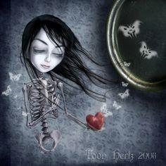 creepyartetc: Artist: Toon Hertz More creepy art Art Emo, Goth Art, Dark Gothic Art, Dark Fantasy Art, Illustrations, Illustration Art, Art Sinistre, Mediums Of Art, La Face