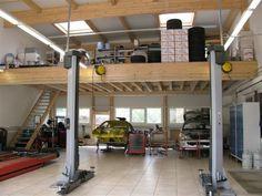 Buildings and Plans For Garage Shop. Garage Lift, Plan Garage, Pole Barn Garage, Garage Shop, Garage House, Dream Car Garage, Building A Garage, Work Shop Building, Construction Garage