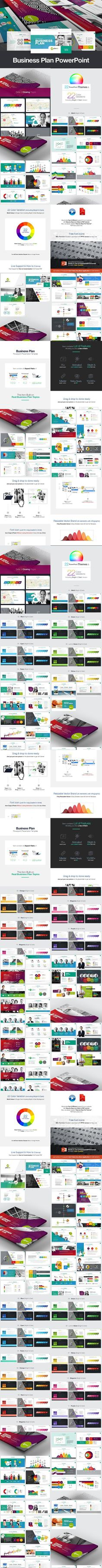 Business Plan Powerpoint. Graphic Design Infographics