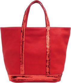Vanessa Bruno Medium tote in glitter leather on shopstyle.com.au