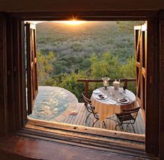 Phinda Rock Lodge #sunrise and #champagne breakfast #SouthAfrica