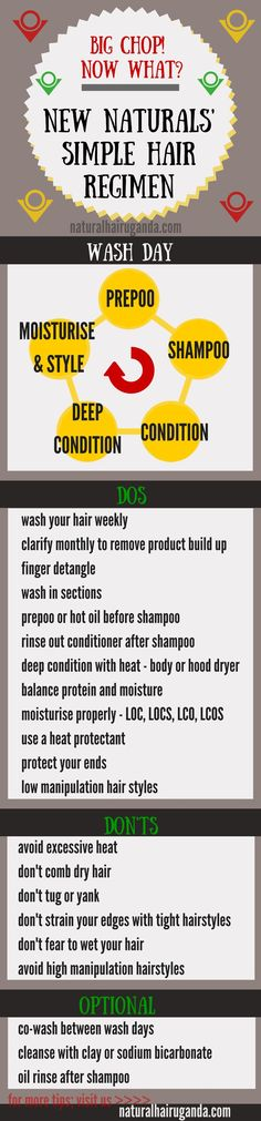 Simple natural hair regimen ☪ Pinterest: /RaelinaTerry/