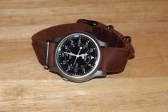 Seiko 5 SNK owners: Show me your NATO or leather bands! Retro Watches, Men's Watches, Cool Watches, Best Looking Watches, Best Watches For Men, Seiko Snk809, Tic Tac, Smart Watch, Leather Wallet