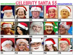 Celeb Santa Christmas Picture Quiz, Christmas Quiz, Christmas Pictures, Christmas Games, Family Christmas, Body Shop At Home, The Body Shop, Gavin Henson, Aston Kutcher