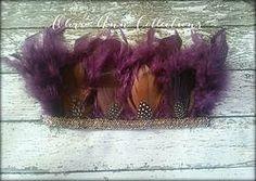 Plum Glam feather headdress - photo props
