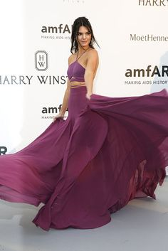When she wore this purple dress like no purple dress had been worn before. | 22 Times Kendall Jenner Made You Want To Be Or Date Kendall Jenner