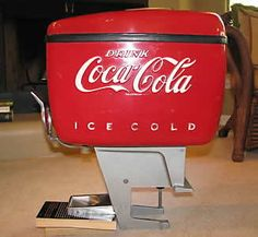 "We are proud to present the ""Round Top"" Soda Machines. All original and restored to Grade One condition. Coca Cola, Pepsi, Vintage Coke, Retro Vintage, Vintage Items, Soda Machines, Vending Machines, Coke Ad, Retro Diner"