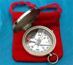 Thoreau's Go Confidently Poem Engraved on Working Solid Brass Pocket Compass | eBay