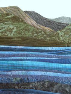 Tangaroa by Jean Renli Jurgenson. Featured Artist, 2015 DVQ show.  Closeup photo by Quilt Inspiration.