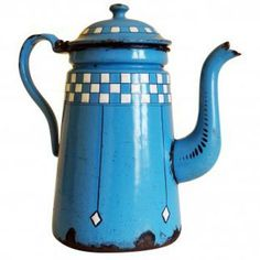 French enamelware coffee pot (lustucru in blue) | Second Shout Out