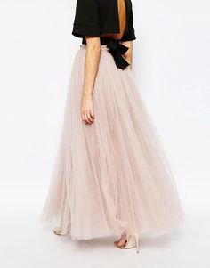 Image 2 of Little Mistress Maxi Tulle Skirt