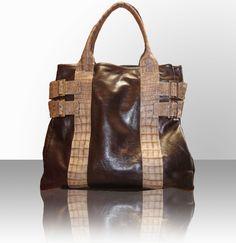 Leather & croc skin