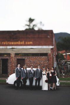 Rockin' rock-paper-scissors rockabilly wedding in Wollongong 50s Wedding, Rockabilly Wedding, Wedding Couples, Dream Wedding, Wedding Vintage, Wedding Signs, Wedding Stuff, Cute Wedding Ideas, Wedding Inspiration