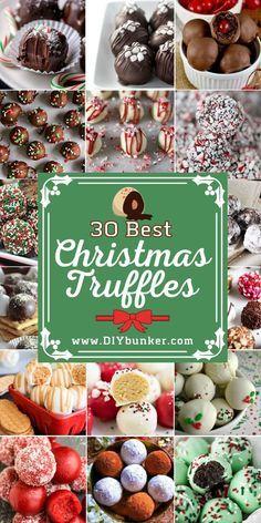 Christmas Truffles, Christmas Deserts, Christmas Food Gifts, Christmas Dishes, Christmas Cooking, Holiday Desserts, Holiday Cookies, Holiday Baking, Holiday Recipes