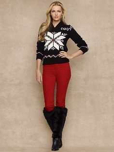 Women's AE Snowflake Sweater - American Eagle... | Cute Outfits ...