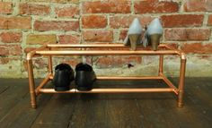 Kuparinen DIY kenkäteline - @finnicadesign