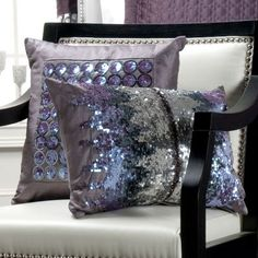 Love this sequin embroidery and purple/grey/silver color combination