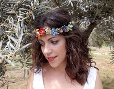 Couronne de fleurs / Flowers crown Crown, Band, Accessories, Jewelry, Fashion, Flower Crowns, Jewellery Making, Moda, Jewelery