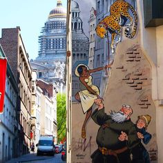 Brussels celebrates its comic heroes all over the city with more than 50 gigantic mural painting