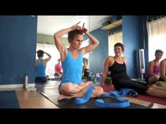 Yoga Tips with Christina Sell - lotus strap assist for kukkutasana  great idea for making half lotus bound like full lotus.