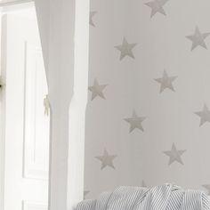 papel pintado estrellas vintage de color piedra telas u papel