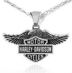 Harley Davidson Chain Necklace with Shield Pendant. Get the accessory looks you love at the prices you want with the sale on Haley Davidson jewelry! Motor Harley Davidson Cycles, Harley Davidson Fatboy, Harley Davidson Motorcycles, Harley Davidson Jewelry, Harley Davidson Merchandise, Haley Davidson, Riding Gear, Biker Chick, Brand It