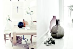 Decorating with glass bottles.
