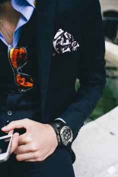 Details and some #menswear #accessories #pocketsquare