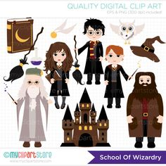 harry potter on broom clipart - Google Search