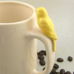 Taza de café con pájaro   http://philipssenseo.com.ar/#home - http://www.facebook.com/PhilipsSenseoArgentina